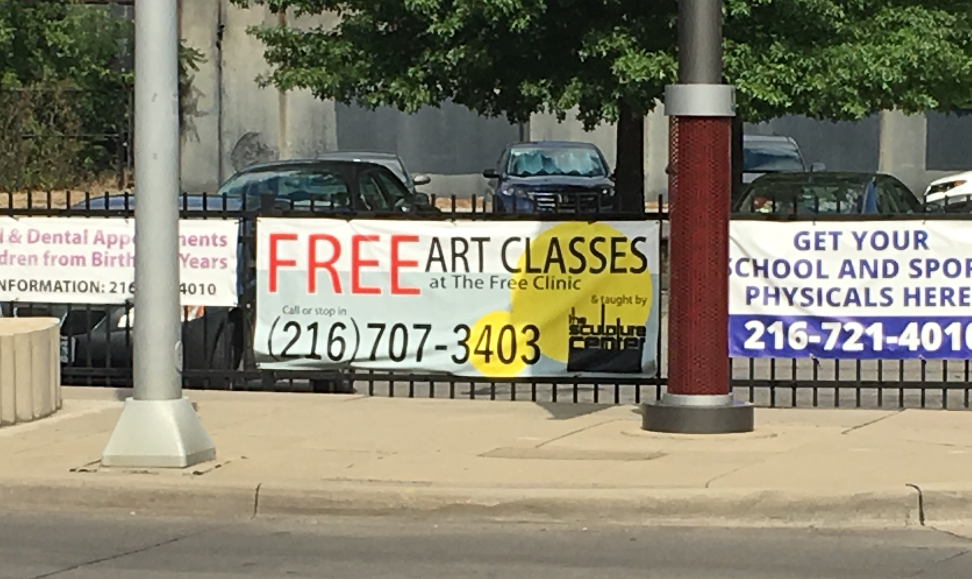 Sculpture Center free art classes at The Free Clinic