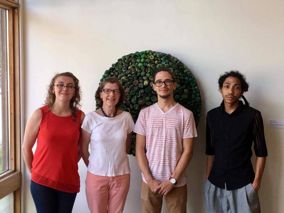 The Sculpture Center's 2017 summer interns with executive director Ann Albano